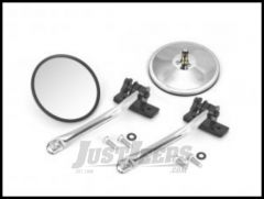 Rugged Ridge Quick Release Mirror Kit Stainless Steel For 1997+ Jeep Wrangler TJ, JK, TJ Unlimited & Wrangler Unlimited JK (Pair) 11026.10