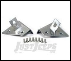 Rugged Ridge Auxiliary Windshield Light Mount Kit Stainless For 1976-95 Jeep Wrangler YJ and CJ 11028.01