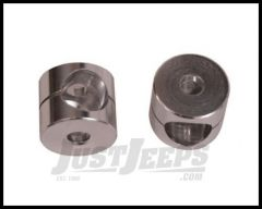 Rugged Ridge Clear Anodized Mirror Bushings Pair 1976-86 CJ Series 11029.02