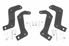 Rough Country Front Control Arm Relocation Brackets for 18+ Jeep Wrangler JL & Gladiator JT 110602