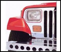 Rugged Ridge Stoneguard Set For Stainless Steel 1987-95 Jeep Wrangler YJ 11102.02