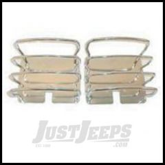 Rugged Ridge Taillight Euroguards For Stainless steel 1976-06 Wrangler YJ TJ and CJ Series 11103.01