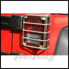 Rugged Ridge Euro Guard Rear Light Guards in Stainless Steel For 2007-18 Jeep Wrangler JK 2 Door & Unlimited 4 Door Models 11103.03