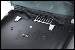 Rugged Ridge Hood Hinge Covers Set in Stainless For 2007-18 Jeep Wrangler JK 2 Door & Unlimited 4 Door Models 11111.10