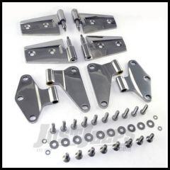 Rugged Ridge (Stainless Steel) Door Hinge Kit For 2007-18 Jeep Wrangler JK 2 Door Models 11111.20