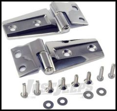 Rugged Ridge Stainless Steel Hood Hinge Kit For 2007-18 Jeep Wrangler JK 2 Door & Unlimited 4 Door Models 11111.22