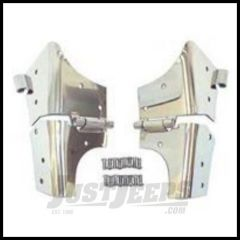 Rugged Ridge Windshield Hinge Set Stainless Steel For 1997-06 Jeep Wrangler TJ & TJ Unlimited Models 11112.02