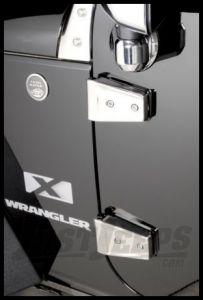 Rugged Ridge Stainless Steel Door Hinge Covers For 2007-18 Jeep Wrangler JK 2 Door Models 11113.05
