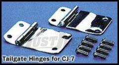 Rugged Ridge Tailgate Hinge Set For Stainless steel 1976-86 CJ Series 11114.01