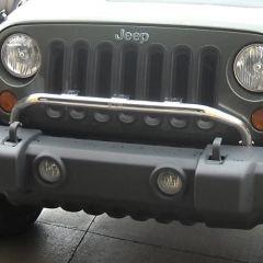 Rugged Ridge Light Bar in Polished Stainless Steel For 2007-18 Jeep Wrangler JK 2 Door & Unlimited 4 Door Models 11138.20