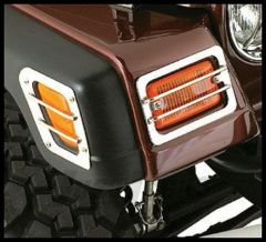 Rugged Ridge Euro-Style Signal & Side Marker Guards in Stainless 97-06 Jeep TJ Wrangler 11142.02