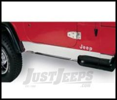 Rugged Ridge Rocker Panels Polished 304 stainless For 1987-95 Jeep Wrangler YJ 11145.01