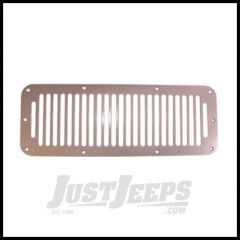 Rugged Ridge Satin Stainless Hood Vent Cover 1976 to 1995 CJ5, CJ7, CJ8, and Jeep Wrangler YJ 11185.06