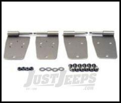 Rugged Ridge Door Hinge Set Satin stainless steel For 1976-93 Jeep Wrangler YJ and CJ 11185.20