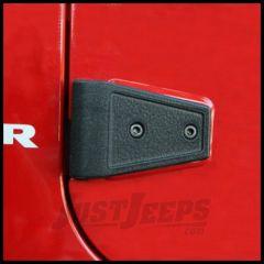 Rugged Ridge Door Hinge Cover Kit in Textured Black For 2007-18 Jeep Wrangler JK 2 Door Models 11202.04