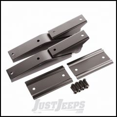 Omix-ADA Tailgate Hinges Pair Semi-Gloss Black Powder Coated For 1997-06 Jeep Wrangler TJ & TJ Unlimited Models 11218.10