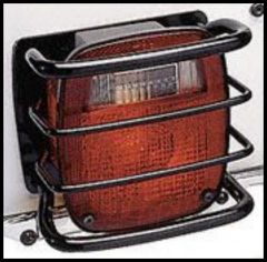 Rugged Ridge Tail Light Gards Euro Style For Black 1976-06 Wrangler TJ and CJ 11226.01