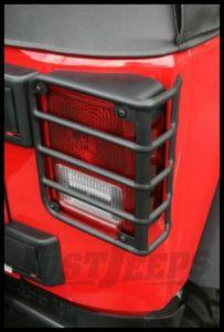 Rugged Ridge Euro Guard Rear Light Guards in Texture Black For 2007-18 Jeep Wrangler JK 2 Door & Unlimited 4 Door Models 11226.11