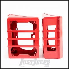Rugged Ridge (Red) Elite Tail Light Guards For 2007-18 Jeep Wrangler JK 2 Door & Unlimited 4 Door Models 11226.06