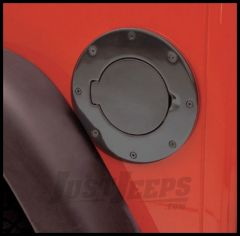 Rugged Ridge Billet Style Gas Hatch Cover in Black Powdercoated Steel 1997-06 TJ Wrangler, Rubicon and Unlimited 11229.01