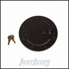 Rugged Ridge Steel Locking Gas Cap Door Textured Black For 2007-18 Jeep Wrangler JK 2 Door & Unlimited 4 Door Models 11229.06