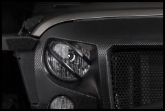 Rugged Ridge (Black) Front Elite Pivotal Headlight Euro Guard For 2007-18 Jeep Wrangler JK 2 Door & Unlimited 4 Door Models 11230.13