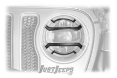 Rugged Ridge Elite Headlight Guards For 2018+ Jeep Gladiator JT & Wrangler JL 2 Door & Unlimited 4 Door Models 11230.21