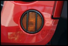 Rugged Ridge Turn Signal Light Guards in Black For 2007-18 Jeep Wrangler JK 2 Door & Unlimited 4 Door Models 11231.11