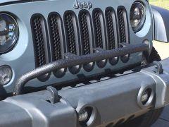 Rugged Ridge Light Bar in Textured Black For 2007-18 Jeep Wrangler JK 2 Door & Unlimited 4 Door Models 11232.20