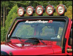 Rugged Ridge Windshield Mount Light Bar For 2007-18 Jeep Wrangler JK 2 Door & Unlimited 4 Door Models 11232.21