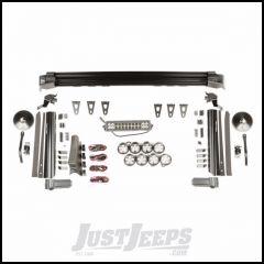"Rugged Ridge Elite Fast Track Light Combo Kit With 1 13"" Light Bar & 6 3"" Round Lights Also With 1 3"" Round Light & Trail Mirror On Each Pillar For 2007-18 Jeep Wrangler JK 2 Door & Unlimited 4 Door Models 11232.55"