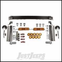"Rugged Ridge Elite Fast Track Light Combo Kit With 2 13"" Light Bars & 5 3"" Round Lights Also With 2 3"" Round Light & Trail Mirror On Each Pillar For 2007-18 Jeep Wrangler JK 2 Door & Unlimited 4 Door Models 11232.56"