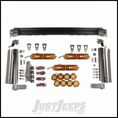 "Rugged Ridge Elite Fast Track Light Combo Kit With 3 13"" Light Bars & 4 3"" Round Lights On Each Pillar With Amber Covers, Harness, Switch Pod & Switches For 2007-18 Jeep Wrangler JK 2 Door & Unlimited 4 Door Models 11232.57"