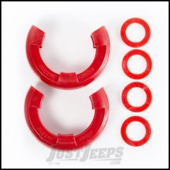 """Rugged Ridge Red D-Ring Isolators For 7/8"""" Rings & Includes 2 Rubber Isolators & 4 Washers 11235.41"""