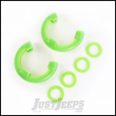 "Rugged Ridge Green D-Ring Isolators For 7/8"" Rings & Includes 2 Rubber Isolators & 4 Washers 11235.43"
