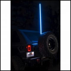"Rugged Ridge Rgb Light Up Whip 60"" With Bracket & Handheld Controller 11250.23"