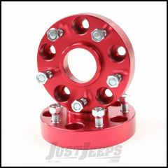 "Alloy USA 1.25"" Red Aluminum Wheel Spacers 5"" X 5"" Bolt Pattern For 1999-04 Jeep Grand Cherokee WJ 11303"