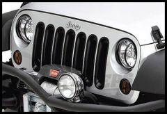 Rugged Ridge Grille Inserts in Black For 2007-18 Jeep Wrangler JK 2 Door & Unlimited 4 Door Models 11306.30