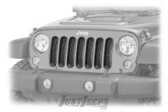 Rugged Ridge Grille Inserts in Gloss Black Mesh For 2007-18 Jeep Wrangler JK 2 Door & Unlimited 4 Door Models 11306.31