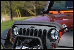 Rugged Ridge Bug Deflector in Matte Black For 2007-18 Jeep Wrangler JK 2 Door & Unlimited 4 Door Models 11348.02