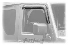 Rugged Ridge Front Window Visors In Carbon Fiber Finish For 2007-18 Jeep Wrangler JK 2 Door & Unlimited 4 Door Models 11349.09