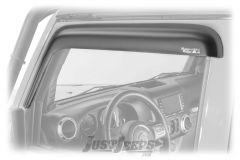 Rugged Ridge Front Window Visors For 2007-18 Jeep Wrangler JK 2 Door Models 11349.11