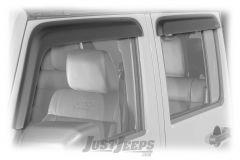 Rugged Ridge Front & Rear Rain Deflectors In Matte Black For 2007-18 Jeep Wrangler JK Unlimited 4 Door Models 11349.12