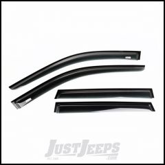 Rugged Ridge 4 Piece Matte Black Acrylic Window Visor Front & Rear Set For 2011-18 Jeep Grand Cherokee WK 11349.13