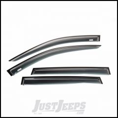 Rugged Ridge 4 Piece Matte Black Acrylic Window Visor Front & Rear Set For 2014-18 Jeep Cherokee Kl 11349.14