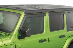 Rugged Ridge Front & Rear Window Visors in Matte Black For 2018+ Jeep Gladiator JT & Wrangler JL Unlimited 4 Door Models 11349.17