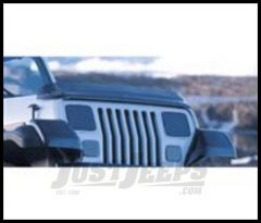 Rugged Ridge Wraparound Bug Deflector Smoke For 1987-06 Wrangler, Rubicon and Unlimited 11350.01