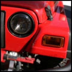 Rugged Ridge Headlight & Turn Signal Cover in Smoke 1997-06 TJ Wrangler, Rubicon and Unlimited 11353.02
