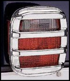 Rugged Ridge Chrome Rib Taillight Protectors 1976-06 Wrangler and CJ series 11354.03