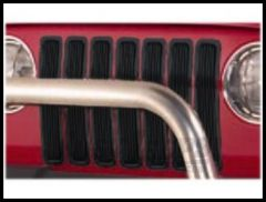 Rugged Ridge EZ Install Billet Grill Inserts in Black 1997-06 TJ Wrangler, Rubicon and Unlimited 11401.03